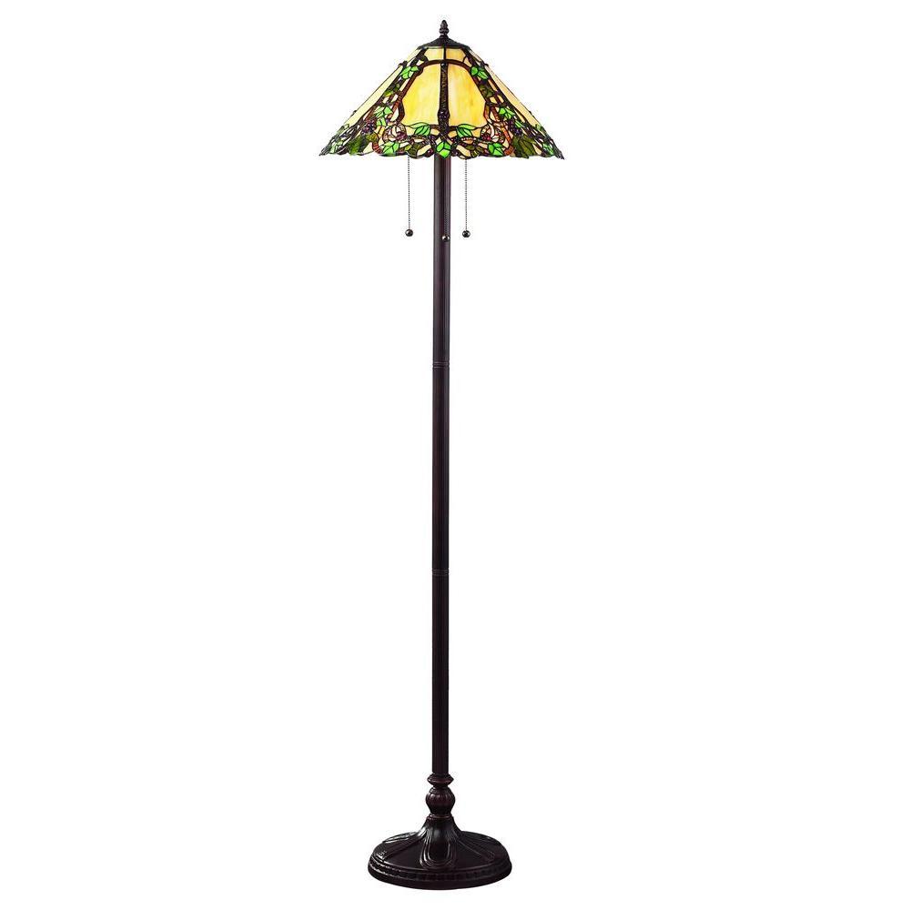 Tulen Lawrence 63 in. Chestnut Bronze Incandescent Floor Lamp