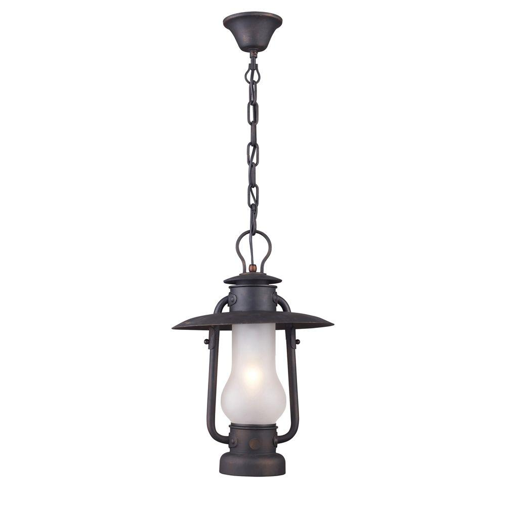 Chapman 1-Light Matte Black Ceiling Mount Pendant