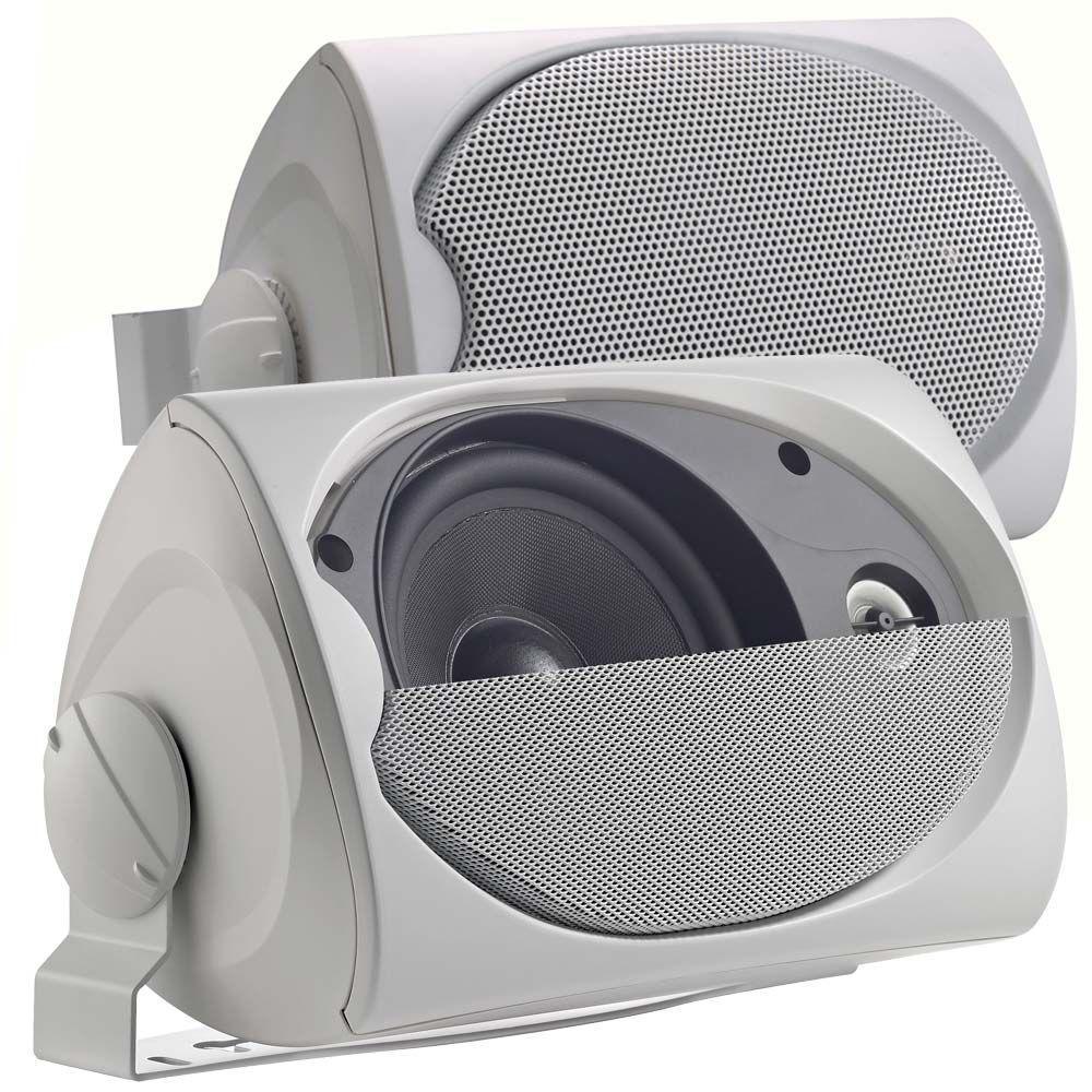 Leviton Spec-Grade Sound 120-Watt 2-Way Outdoor Speakers - White (1-Pair)-DISCONTINUED