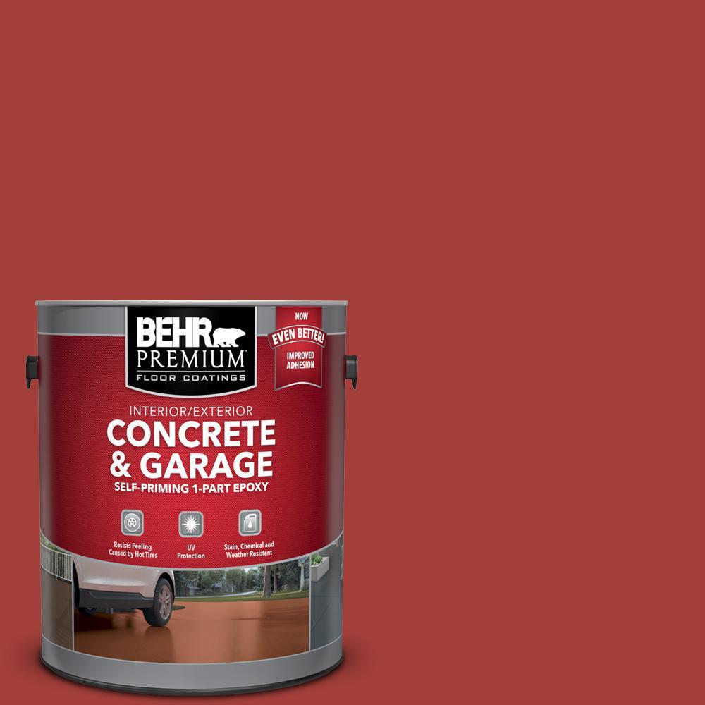 1 gal. #P140-7 No More Drama Self-Priming 1-Part Epoxy Satin Interior/Exterior Concrete and Garage Floor Paint