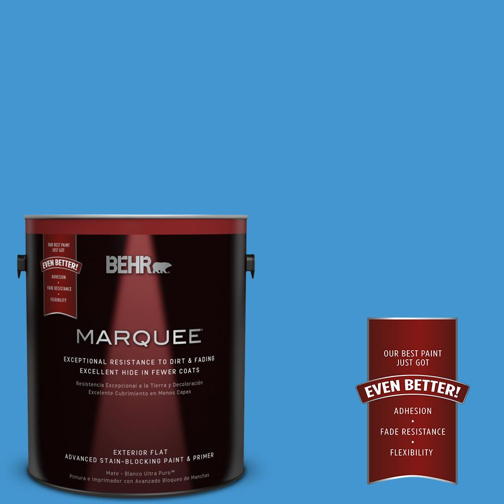 BEHR MARQUEE 1-gal. #P510-5 Perfect Sky Flat Exterior Paint