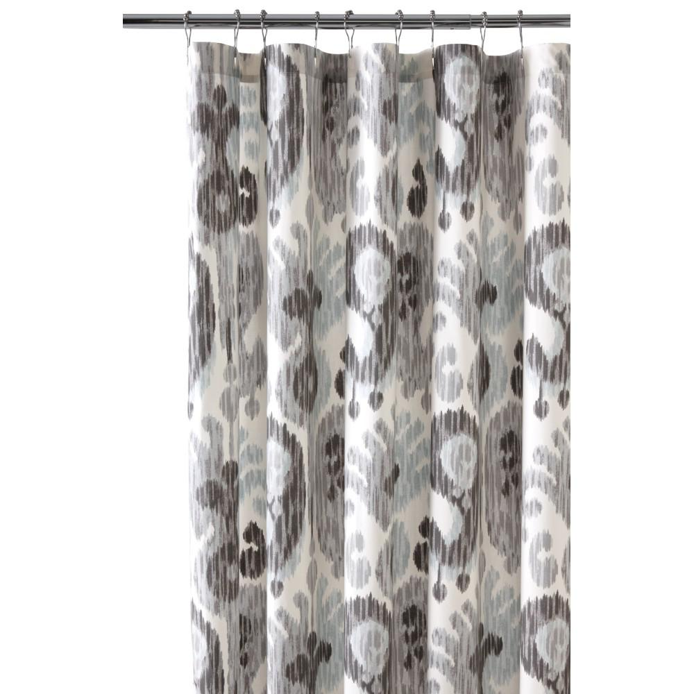 Home Decorators Collection 72 in. Still Water Grey Shower Curtain ...