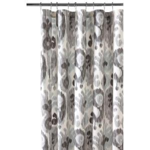 blue and gray shower curtain. Still Water Grey Shower Curtain 9873100270  The Home Depot Decorators Collection 72 in