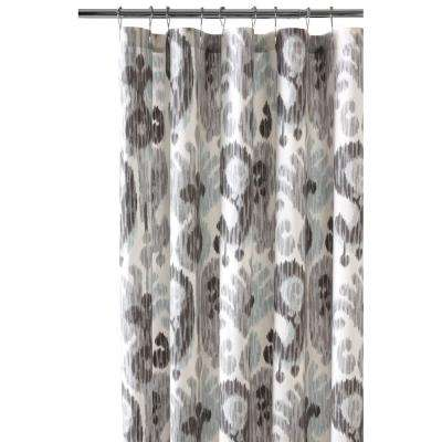 72 in. Still Water Grey Shower Curtain
