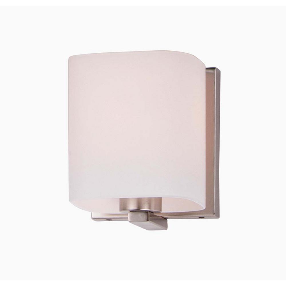 Wrap 4.75 in. Wide 1-Light Satin Nickel Vanity Light