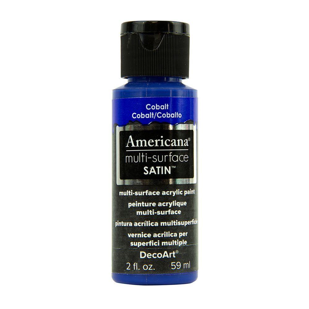 Americana 2 oz. Cobalt Satin Multi-Surface Acrylic Paint