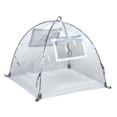 28 in. Greenhouse Pop-Open Framed Clear PVC Cover