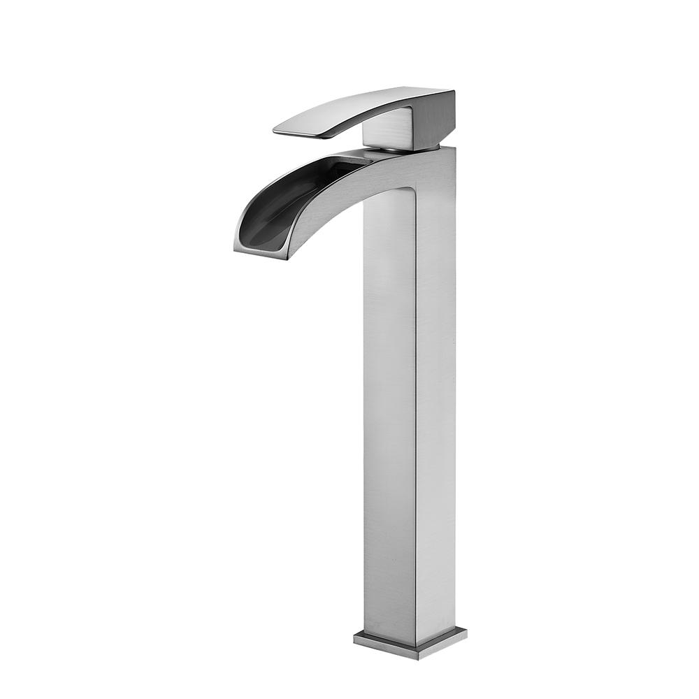 ROSWELL Belair Single Hole Single-Handle Bathroom Faucet in Brushed Nickel