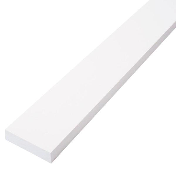 1 in. x 3 in. x 8 ft. Primed Finger-Joint Pine Trim Board (Actual Size: 0.719 in. x 2.5 in. x 96 in.) (9-Piece per Box)