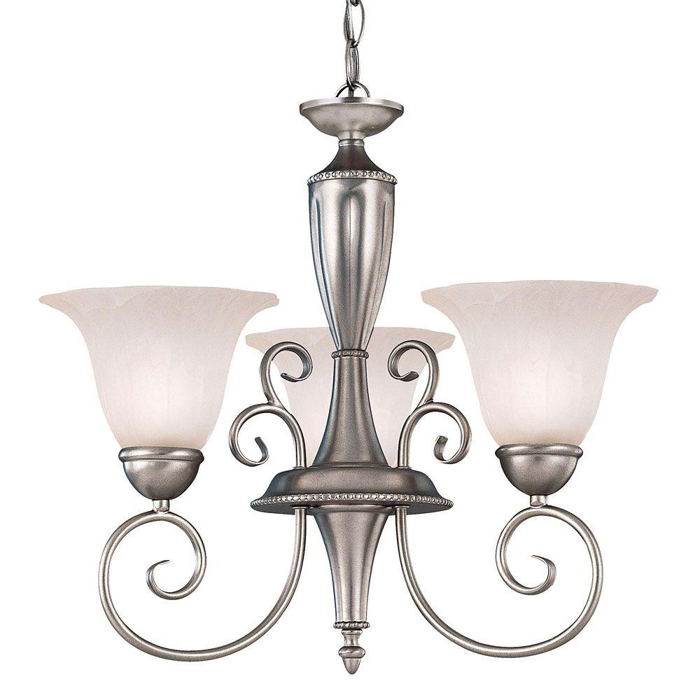 Illumine Pewter Finish Multi-Light Interior Chandelier