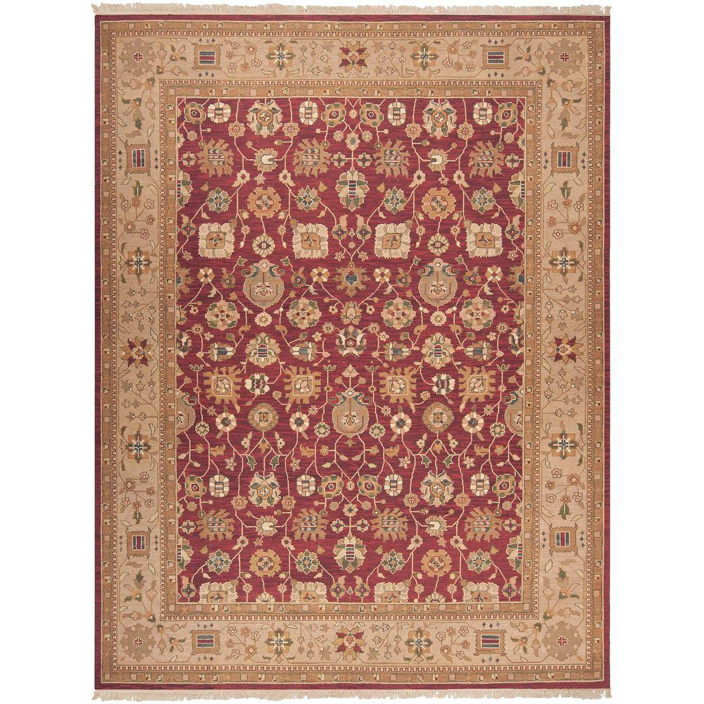 Artistic Weavers Pierrefonds Burgundy 9 ft. x 12 ft. Area Rug