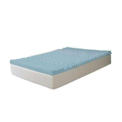 3 in. Queen Gel Memory Foam 7-Zone Mattress Pad