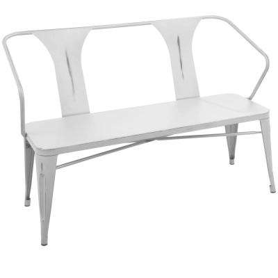 Waco Vintage White Metal Bench