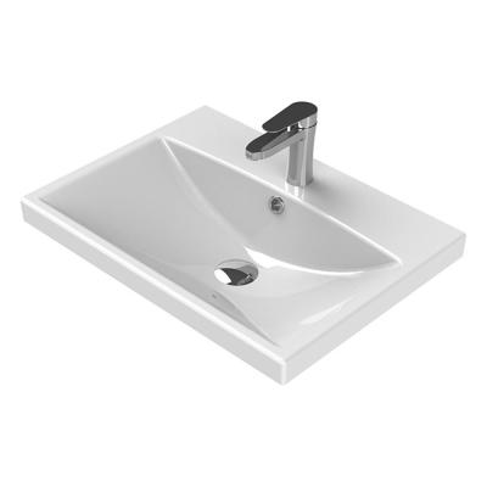 Elite Wall Mounted Bathroom Sink in White