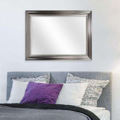 Bretton 39.87 in. H x 29.87 in. W Framed Mirror in Silver
