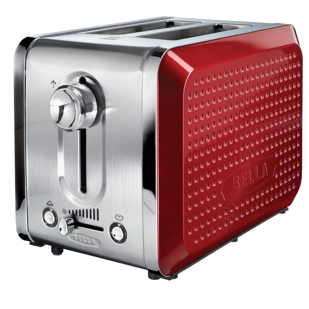 Bella Dots 2 Slice Toaster in Red