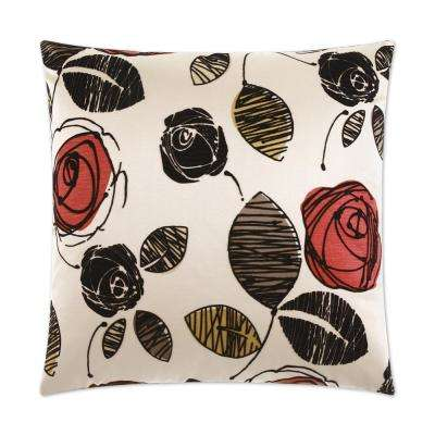 Tory Ebony Feather Down 24 in. x 24 in. Standard Decorative Throw Pillow
