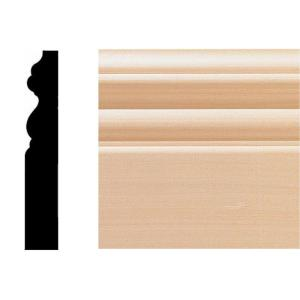 5/8 in. x 4 in. x 8 ft. Hardwood Victorian Base Moulding
