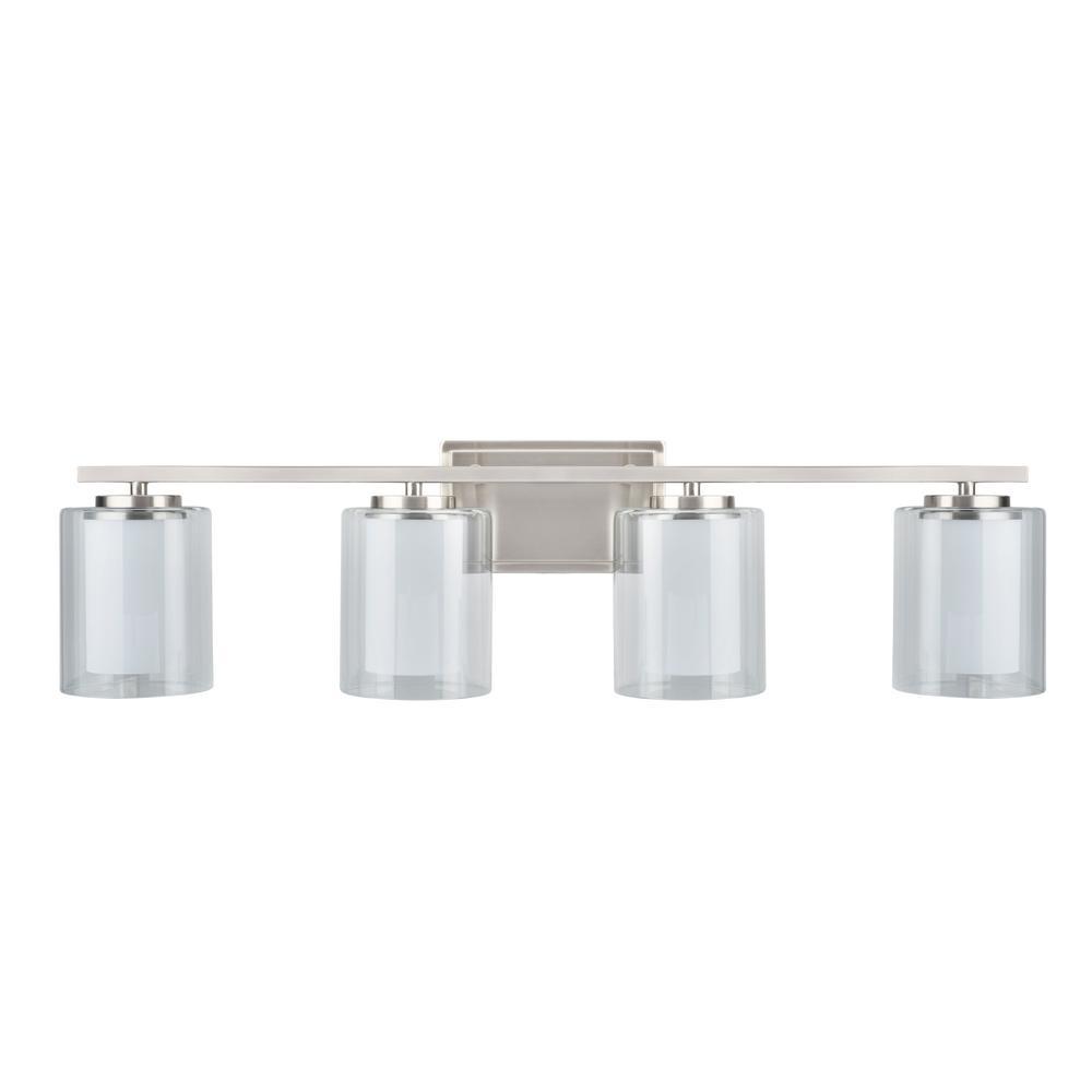 Tech Lighting Aspen 36: Aspen Creative Corporation 4-Light Satin Nickel Vanity