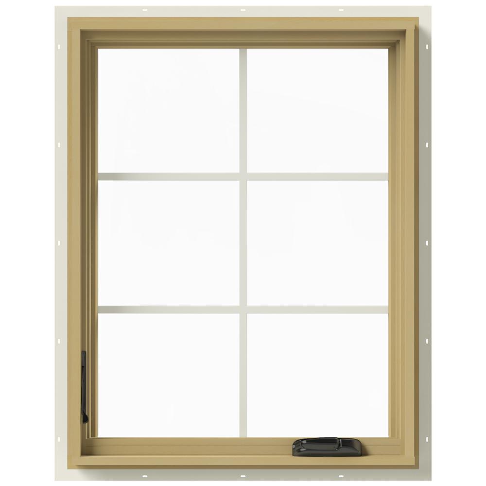 28 in. x 36 in. W-2500 Left-Hand Casement Aluminum Clad Wood Window