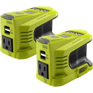 2-Pack RYOBI 150-Watt Powered Inverter for ONE+ 18-Volt Battery