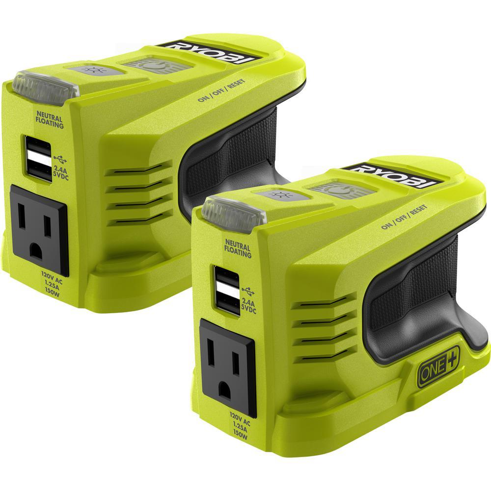 Two 150-Watt Powered Inverter for ONE+ 18-Volt Battery
