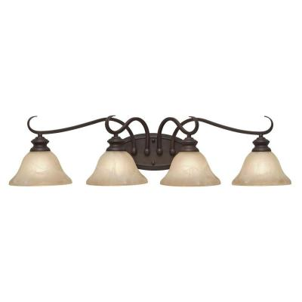 Lancaster Collection 4-Light Rubbed Bronze Bath Vanity Light