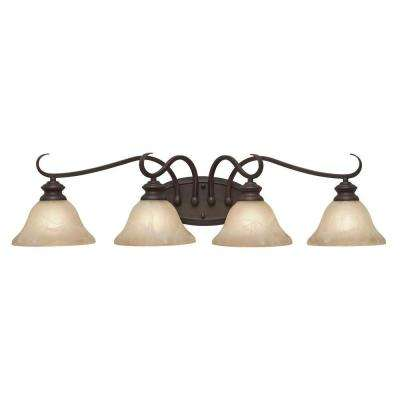 Lancaster Collection 4-Light Rubbed Bronze Bath Vanity Light