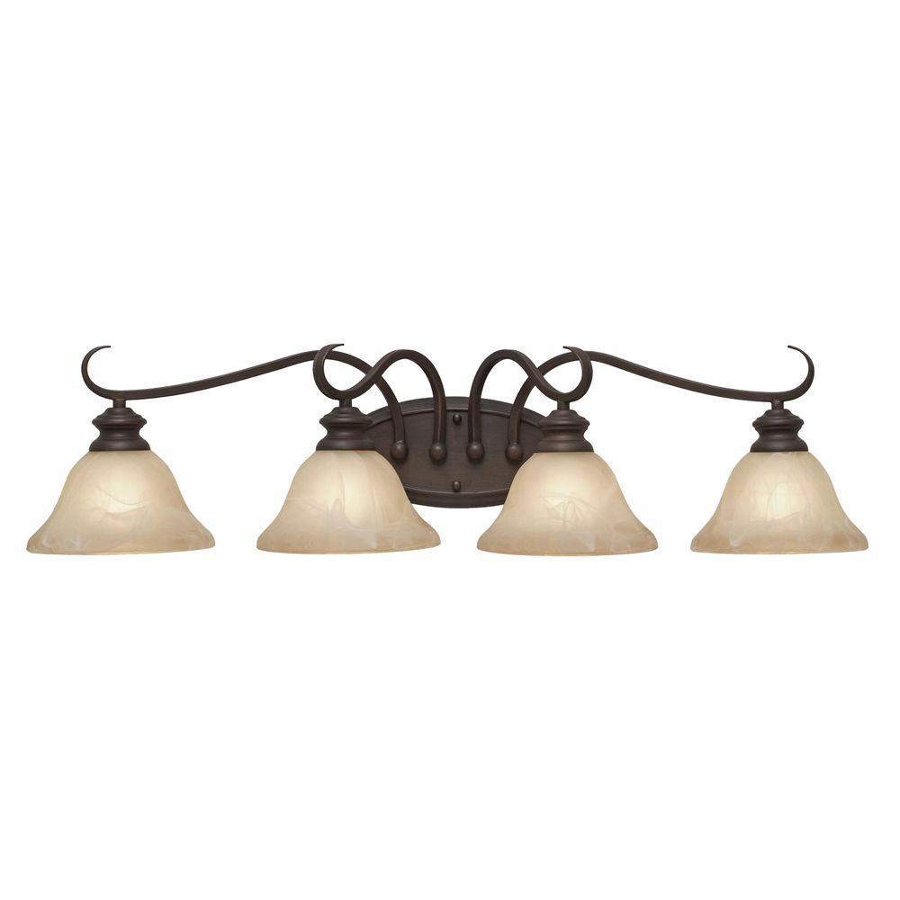 null Starke Collection 4-Light Rubbed Bronze Bath Vanity Light