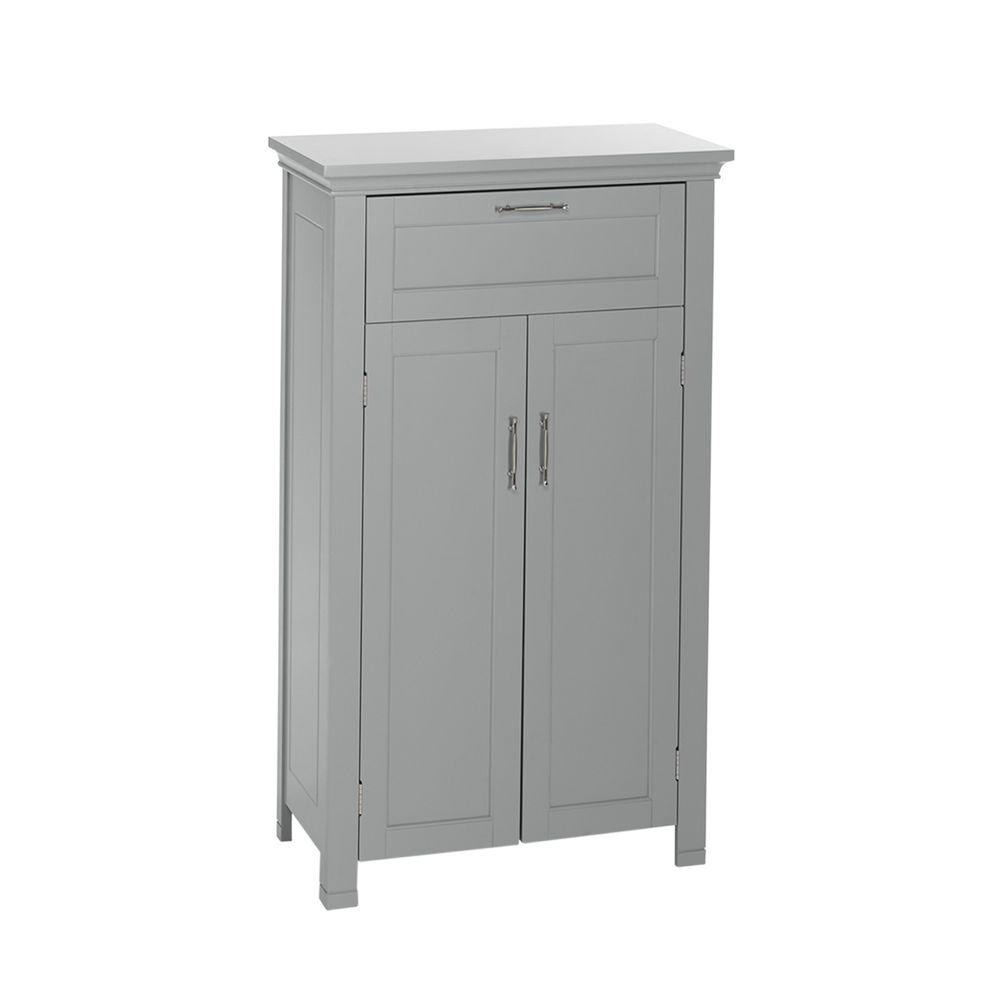 Astounding Riverridge Home Somerset Collection 23 6 In W X 40 12 In H X 12 In D 2 Door Floor Cabinet In Gray Interior Design Ideas Clesiryabchikinfo