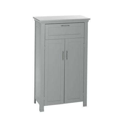 Somerset 23.6 in. W x 40.12 in. H x 12 in. D 2-Door Bathroom Linen Storage Floor Cabinet in Gray