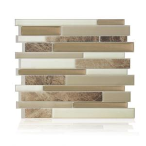 Milano Sasso Brown 11.55 in. W x 9.65 in. H Peel and Stick Self-Adhesive Decorative Mosaic Wall Tile Backsplash (6-Pack)