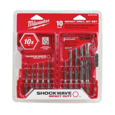 SHOCKWAVE IMPACT DUTY Hex Drill Bit Set (10-Piece)