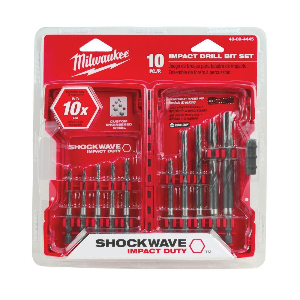 Shockwave Hex Drill Bit Set (10-Piece)