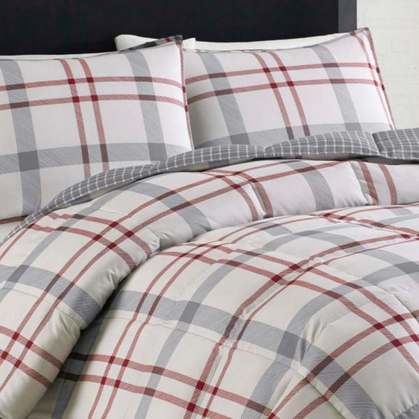 Eddie Bauer 2 Piece Beige Portage Bay Twin Duvet Cover Set 215783