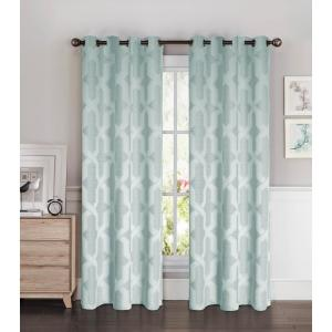 Bella Luna Semi-Opaque Drona Thermal 84 inch L Room Darkening Grommet Curtain Panel Pair,... by Bella Luna