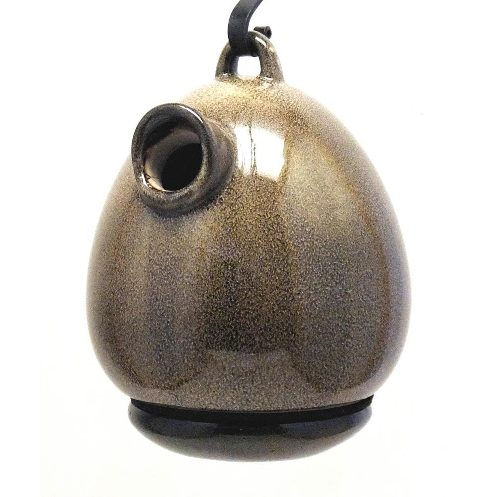 9 in. Sandy Granite Ceramic Egg Shape Bird House