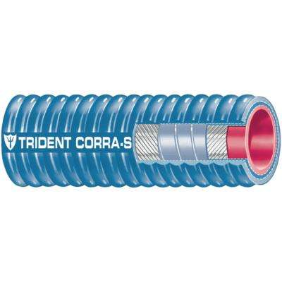 2-1/2 in. x 12 ft. Corrugated Silicone Exhaust Hose, Blue