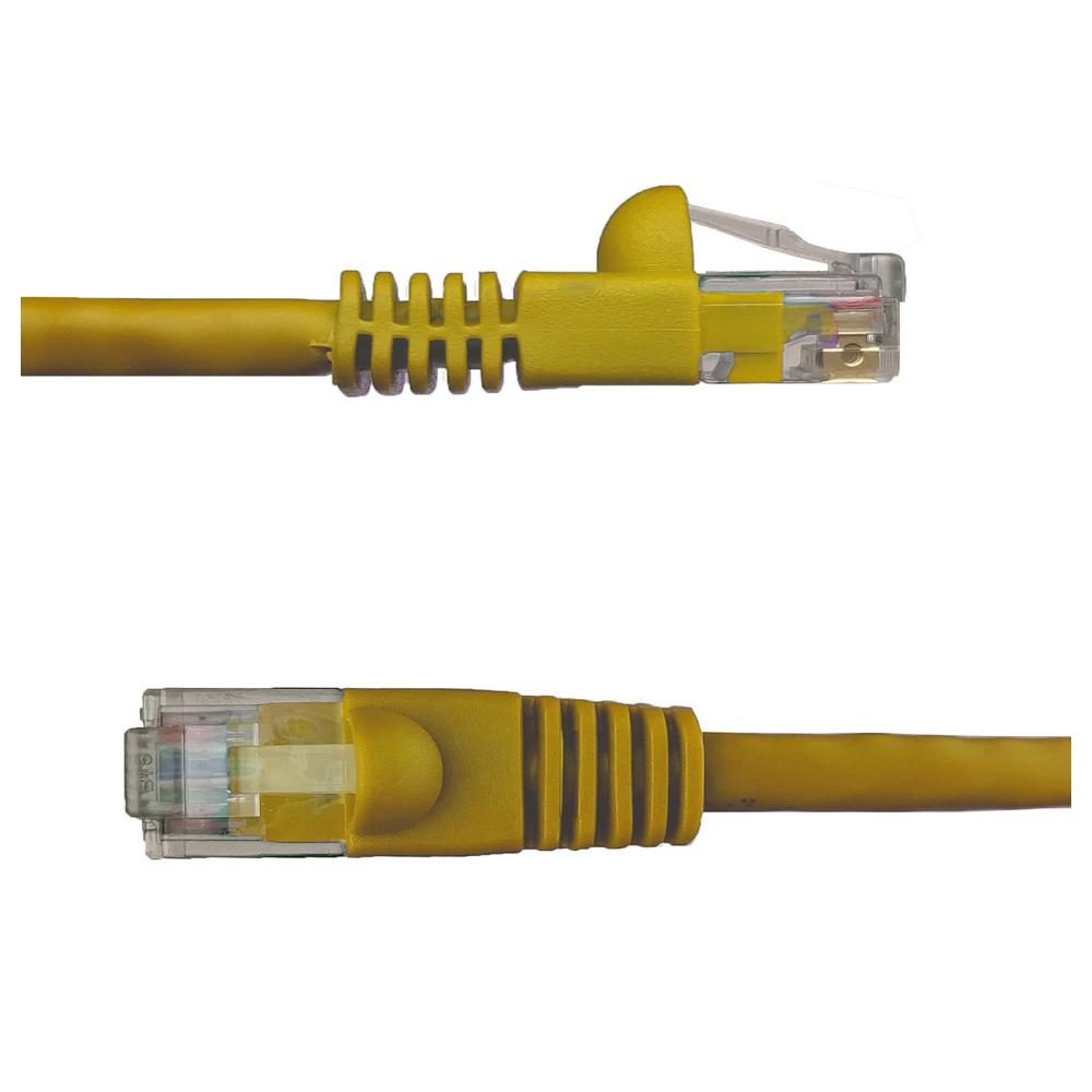 NTW 5 ft. Cat6 Snagless Unshielded (UTP) Network Patch Cable, Yellow 5 ft. UTP Category 6 Patch Cable with 50u' plug gives you fast and reliable connection for a wide range of compabilities. Designed to work with network adapters, hubs, switches, routers, DSL/cable modems, patch panels and other high performance networking applications. Meets all Cat6 TIA/EIA standards which reduce return loss and minimize near end cross talk leves.