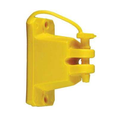 Yellow Wood Post Pin Lock Insulator (25-Pack)