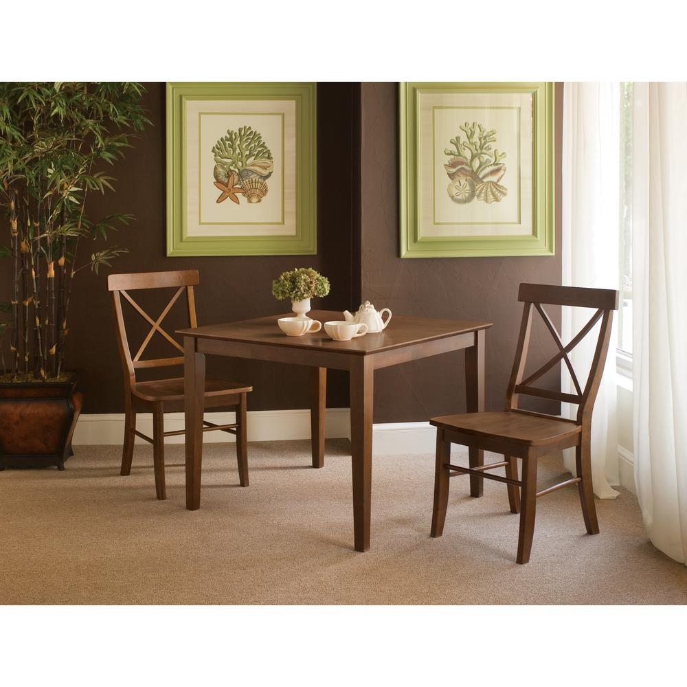 International concepts espresso skirted dining table k581 3636 30s the home depot - Espresso kitchen table ...