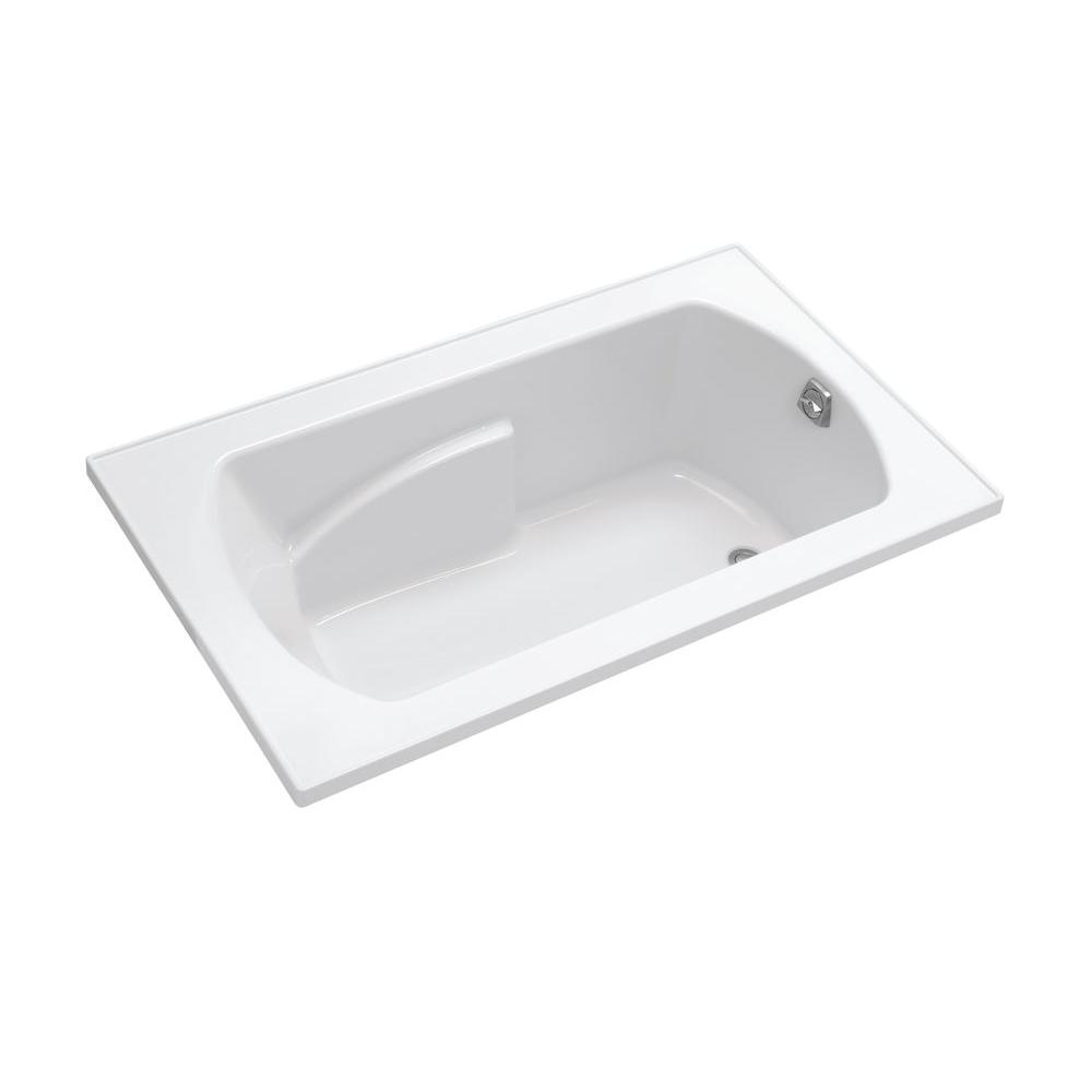 STERLING Lawson 60 in. Vikrell Rectangular Drop-in Whirlpool Bathtub in White