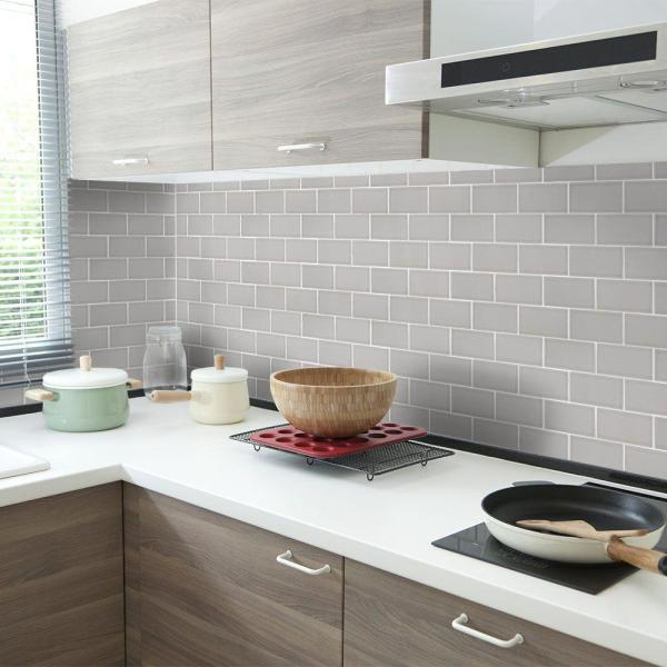 Jeffrey Court Weather Grey 3 In X 6 In Subway Glossy Ceramic Wall Tile 12 5 Sq Ft Case 96496 The Home Depot