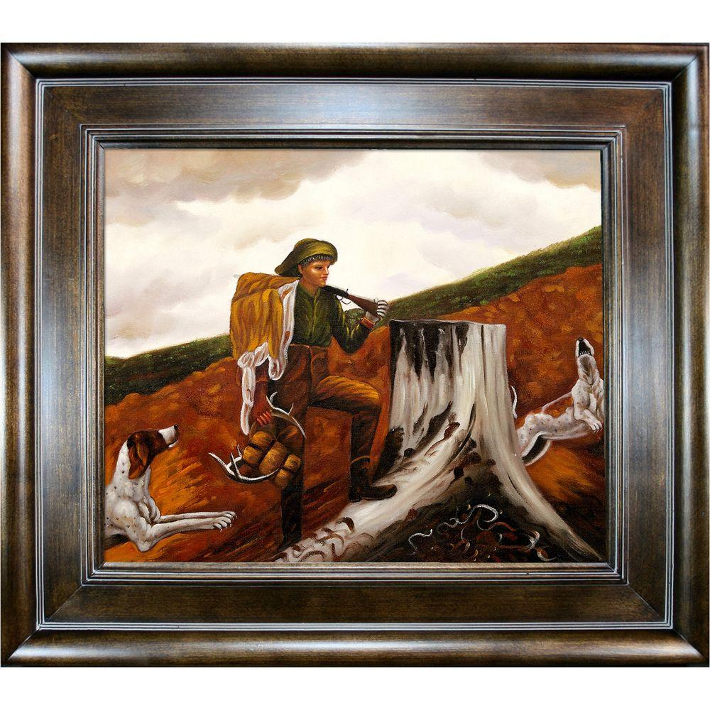 null 20 in. x 24 in. Huntsman and Dogs