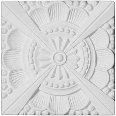 5/8 in. x 7-7/8 in. x 7-7/8 in. Polyurethane Palmetto Beaded Rosette