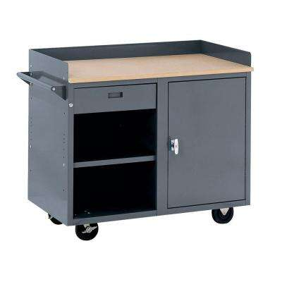 42 in. W x 24 in. D 1-Drawer Mobile Workbench with Storage