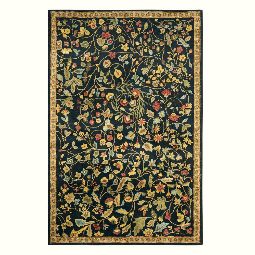 Home Decorators Collection Bristol Black 3 ft. 6 in. x 5 ft. 6 in. Area Rug