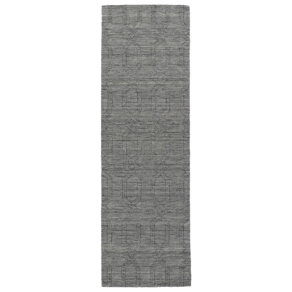 Kaleen Imprints Modern Grey 2 ft. 6 in. x 8 ft. Runner