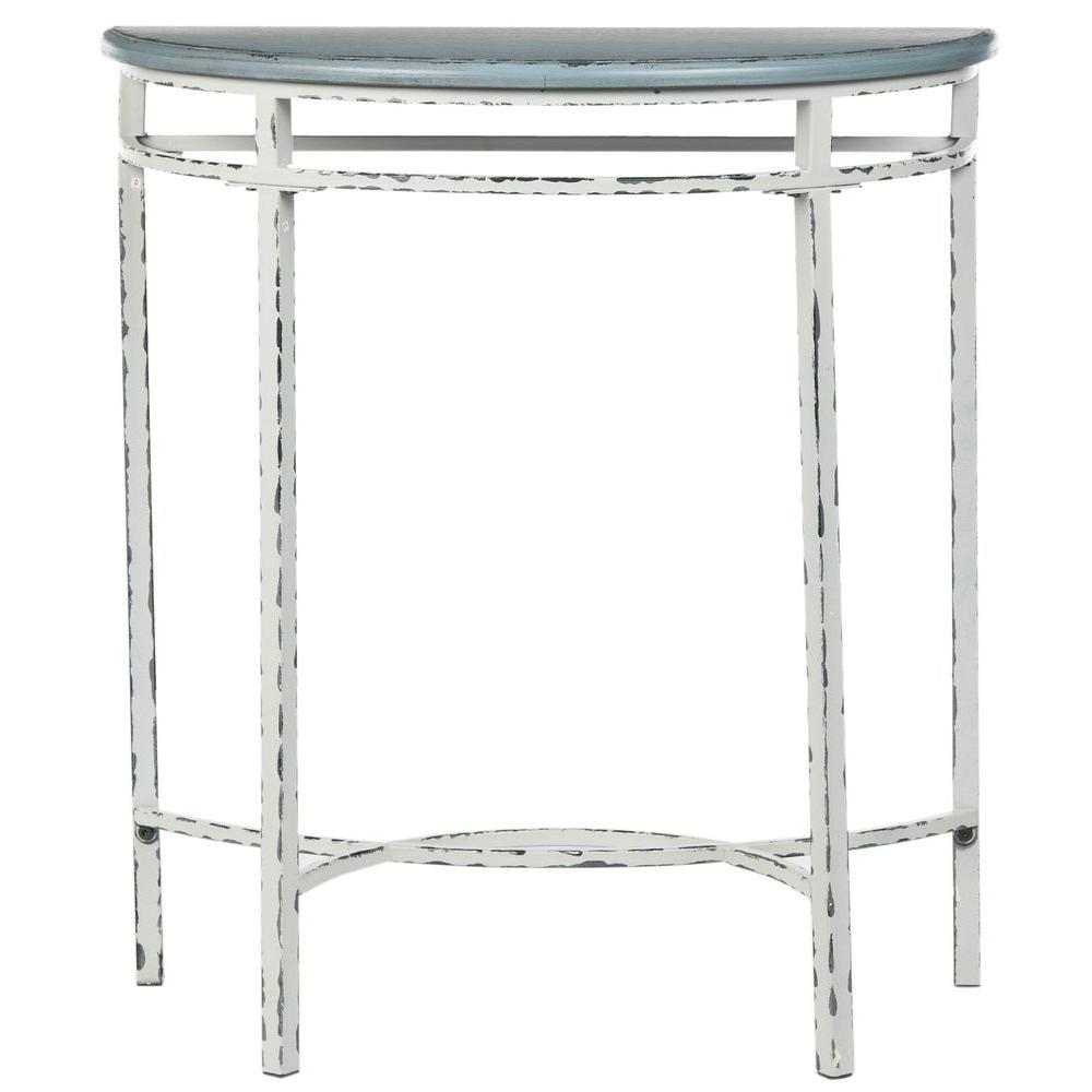 Safavieh Lee Ann Distressed White and Blue Console Table