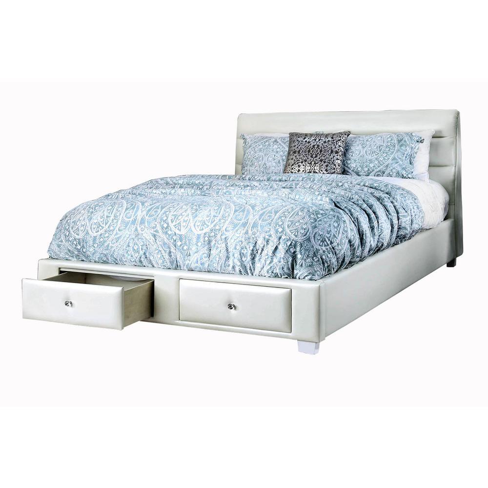 Demi White Queen Bed